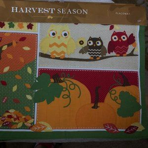 """Set of 6 Tapestry Harvest Fall Placemats 18"""" x 13"""""""